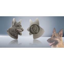 В Швейцарии выпущена монета в форме головы немецкой овчарки