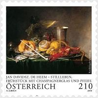 Австрия запечатлела на марке натюрморт голландского художника