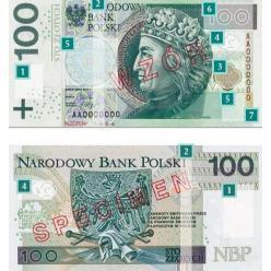 В Польше выпущены обновленные банкноты номиналом 100 злотых