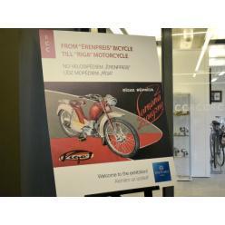 В столице Латвии представлена экспозиция раритетных велосипедов и мопедов