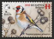 В Беларуси появится марка с изображением птицы 2018 года — черноголового щегла