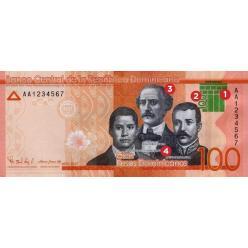 В Доминикане выпущена модернизированная банкнота номиналом 100 песо