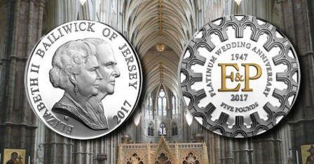 К годовщине бракосочетания королевской семьи выпущена очередная монета