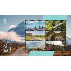 В Новой Зеландии выпущены марки, посвященные веломаршрутам