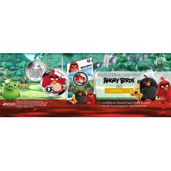 Монетный двор Pobjoy представил цветную монету с персонажем игры и мультфильма Angry Birds