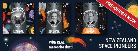 В Новой Зеландии будет выпущена серия почтовых марок в честь астрономов страны