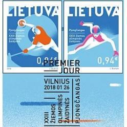 Марки в честь Зимней Олимпиады представила Литва