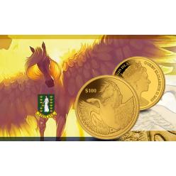 Монета с изображением крылатого коня отчеканена в Великобритании