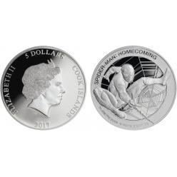 Остров Кука отчеканил монеты с Человеком-пауком