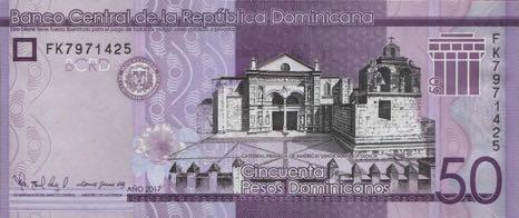 В Доминикане в обращении появилась обновленная банкнота номиналом 50 песо