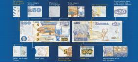 В Замбии выпущены банкноты с обновленными элементами защиты