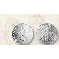 Остров Ниуэ выпускает эксклюзивную серебряную монету с рычащим львом