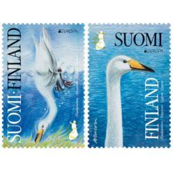 Финляндия, в рамках проекта EUROPA Национальные птицы, выпустила набор из двух марок
