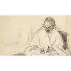 В Великобритании редкий портрет Махатмы Ганди попал на торги
