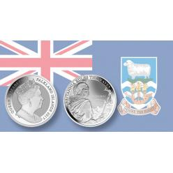 Фолклендские острова представили коллекционную серебряную монету в одну крону