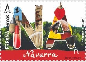 Испания запечатлела символы провинции Наварры на марке