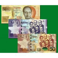 Ганы подтвердили обновление нескольких банкнот