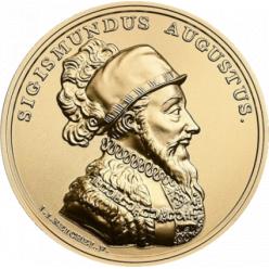 На памятных монетах Польши представлен король Сигизмунд II Август