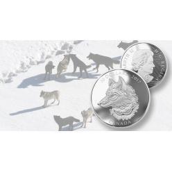 Канада выпустила коллекционную монету с изображением волка