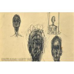 Рисунки Альберто Джакометти будут проданы кембриджскими аукционистами Cheffins