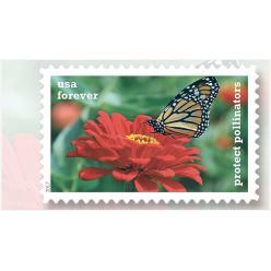 В США издали безноминальные марки с изображением бабочек