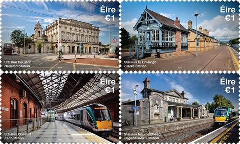 В Ирландии выпустили почтовые марки с изображением самых красивых вокзалов