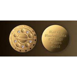 В Латвии представлена последняя монета серии «Золотая брошь»
