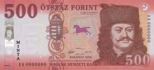 В денежном обращении Венгрии появились обновленные купюры номиналом 500 форинтов