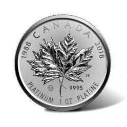 В Канаде отчеканили набор монет в честь 30-летия платинового кленового листа