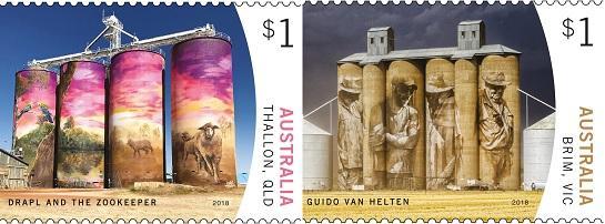 Австралия выпустила марки в честь галереи монументальной живописи