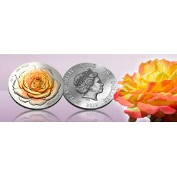 Helvetic Mint представил необычную монету, на которой красуется объемная роза