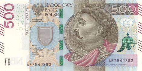 В Польше выпущена обновленная банкнота номиналом 500 злотых