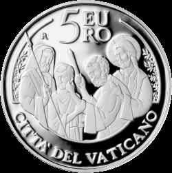 Монета, посвященная Всемирному дню мира, выпущена в Ватикане