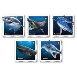 Марки с изображениями морских хищников появились в Канаде