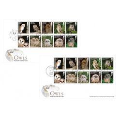 Королевская почта выпустила в обращение 10 марок с изображением сов