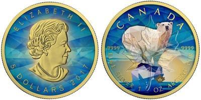 Выпущена монета с изображением Полярного медведя