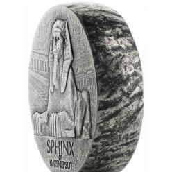 В США представлена серебряная монета, на которой изображен сфинкс царицы Хатшепсут