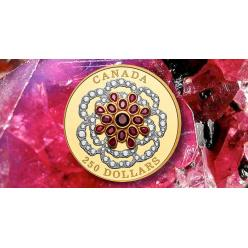В Канаде отчеканена монета, усеянная драгоценными камнями