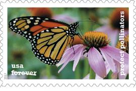 Новые марки с изображением пчел и бабочек появились в США