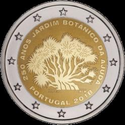 В Португалии появилась монета в честь 250-летия Ботанического сада Ажуда