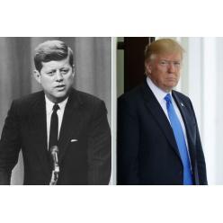В США лотами аукциона стали картина Кеннеди и рисунок Трампа
