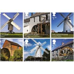 Великобритания издала серию почтовых марок с изображением мельниц