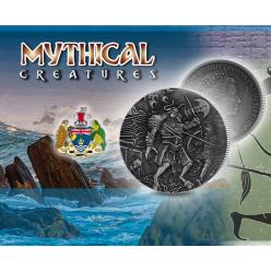 Монету с изображением минотавра отчеканил Pobjoy