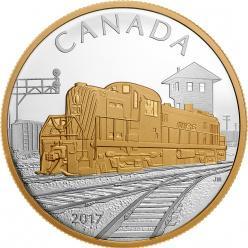 В Канаде посвятили монету развитию железных дорог