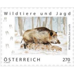 В Австрии выпущена почтовая марка из серии «Дикие животные и охота»