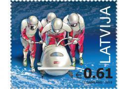 В Латвии выпущена новая марка, посвященная зимним Олимпийским играм