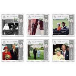 Остров Мэн выпустил почтовые марки к 70-летию помолвки королевы Елизаветы и принца Филиппа