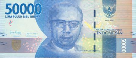 В Индонезии выпущена обновленная банкнота номиналом 50 000 рупий