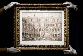 На Sotheby's рисунок итальянского живописца Каналетто ушел за рекордную сумму