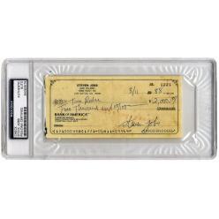 На аукцион выставлен чек, выписанный основателем Apple Стивом Джобсом